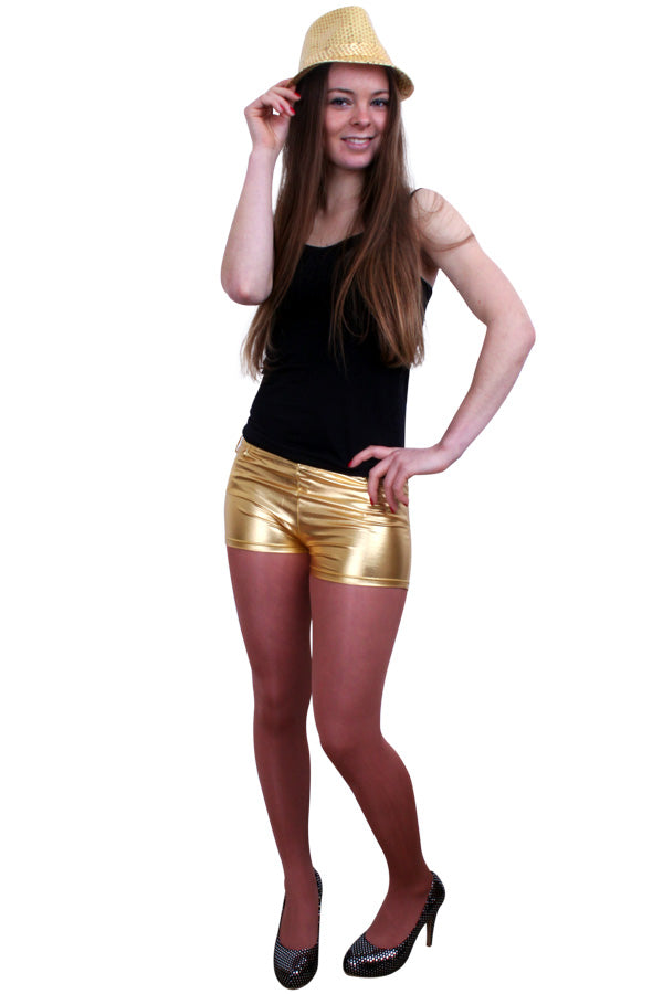 Hotpants metallic goud dames