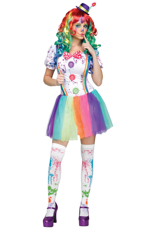 Clown kostuum multicolour dames