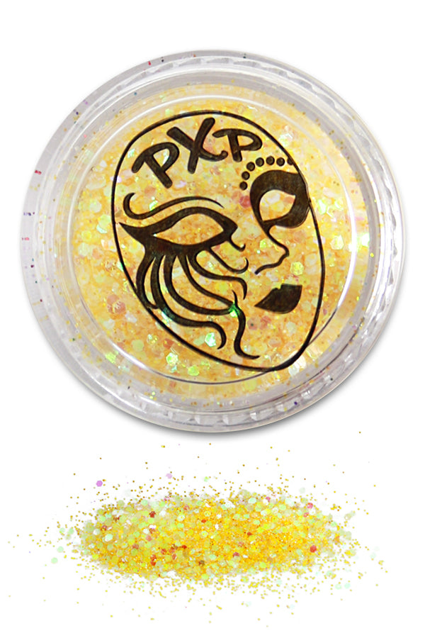 PXP Glitter Lemon Yellow Fijne glitter