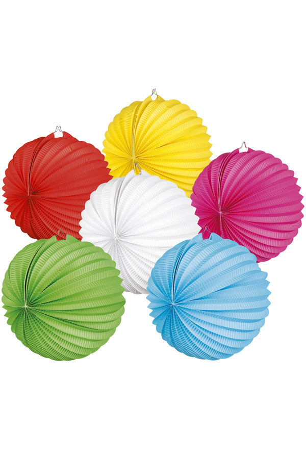 Lampion Balloon 6 assorti Ø23 cm.