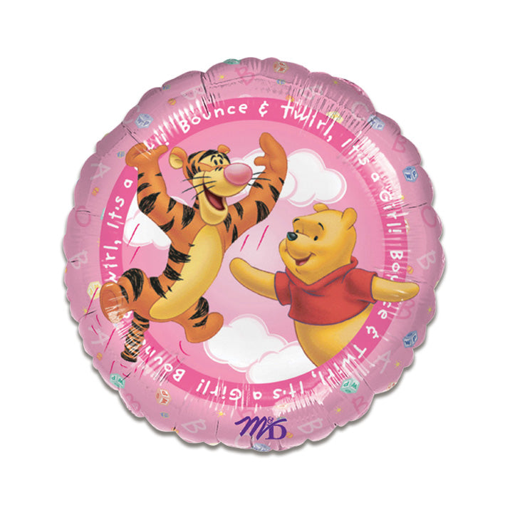 Folieballon Pooh it's a girl (45cm)