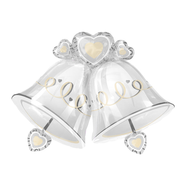 Folieballon wedding bells SuperShape