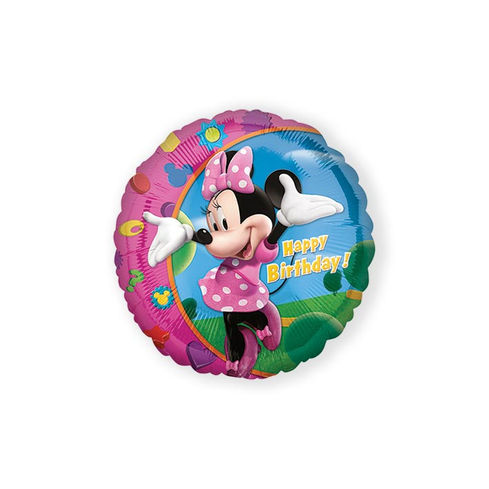 Folieballon happy birthday Minnie (43cm)
