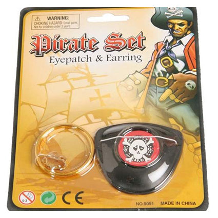 Piratenset ooglap + oorrring