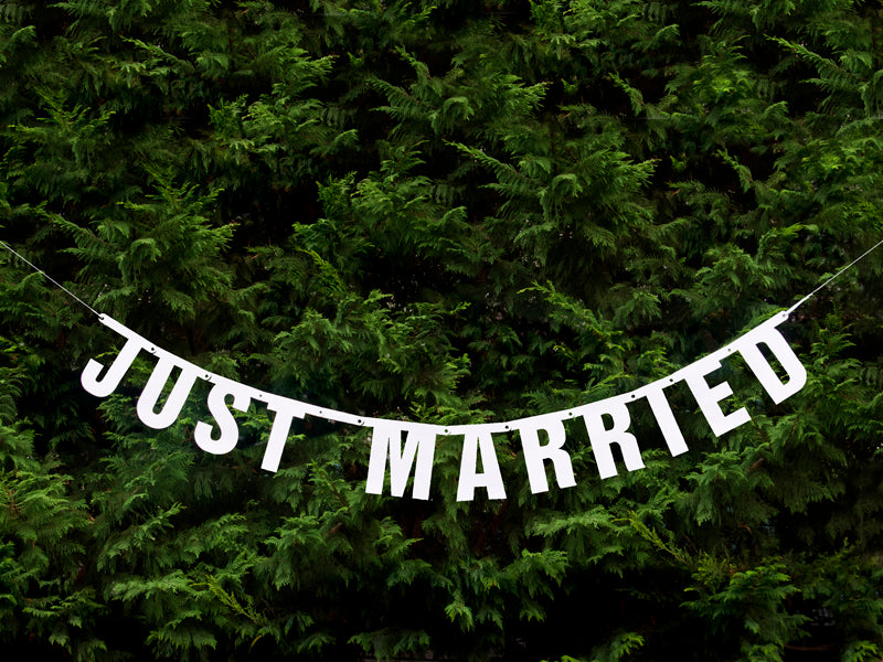 """Banner Just Married, 18 x 170cm"""