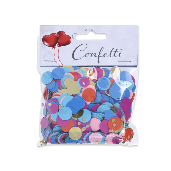 Confetti rondjes metallic multicolor