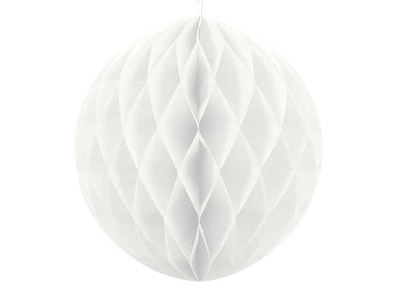 """Honeycomb Ball, wit, 20cm"""