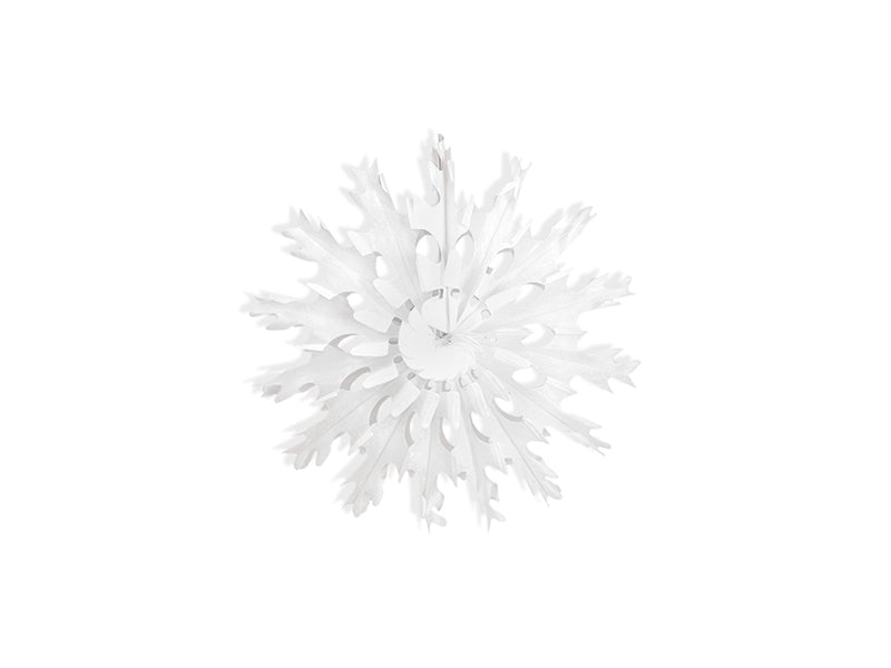 """Decorative rosettes Snow flake, wit, 25cm"""