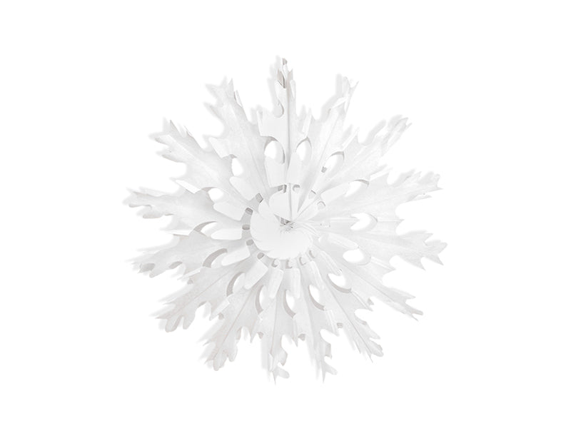 """Decorative rosettes Snow flake, wit, 37cm"""