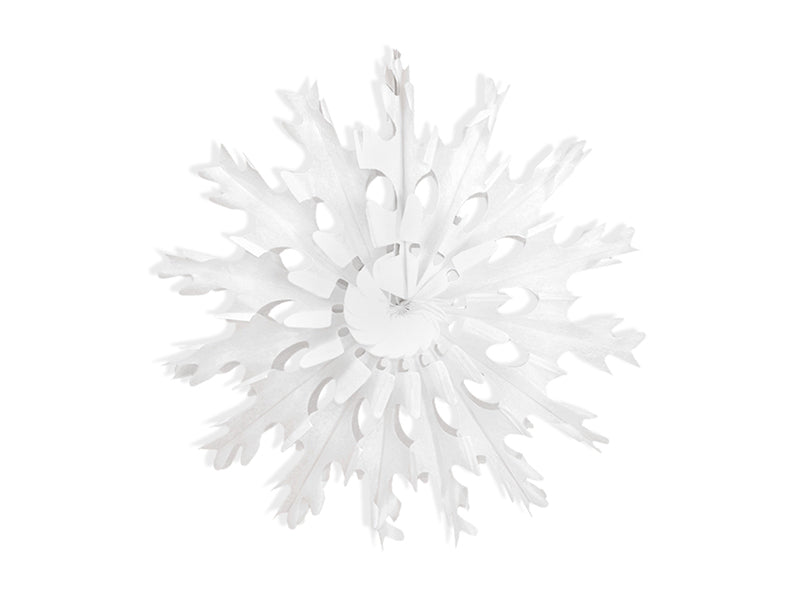 """Decorative rosettes Snow flake, wit, 45cm"""