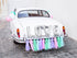 """Auto versiering bruiloft - Love, mix"" - Fiesta4you feestkleding deventer"