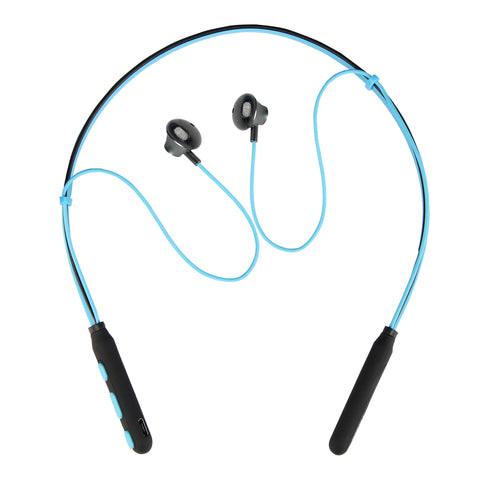 Polaris Blue Neckband Wireless Magnetic Earphones with Mic - SHOPGUST