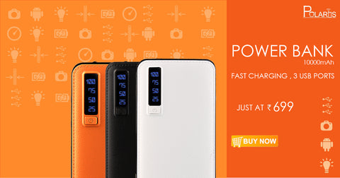 Polaris PowerCore 10000 mah Power Bank  (Made in India)