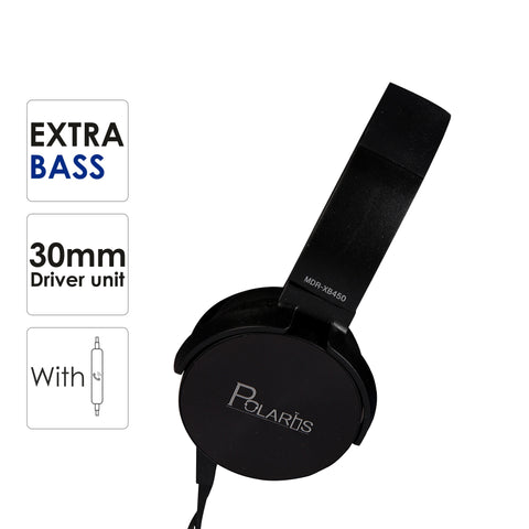 Polaris MDR-XB450 On-Ear EXTRA BASS Headphones