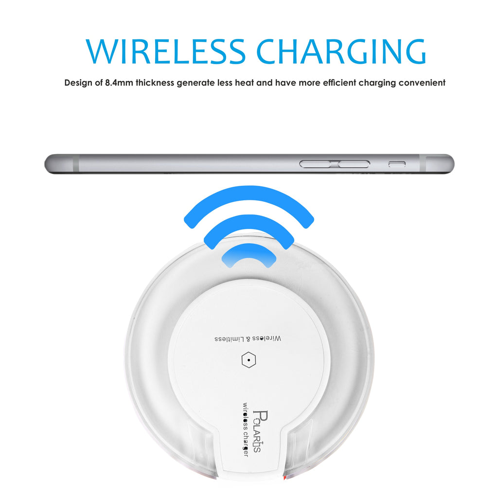 Polaris Ultra Slim QI Wireless Charging Pad with QI Receiver
