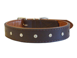 Leather Diamante Collar - Complete Pets