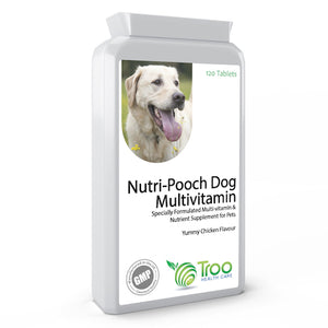 Nutri-Pooch Multi-vitamin for Dogs 120 Chicken Flavour Tablets