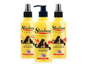 Simbae Long Haired Bundle Shampoo, Conditioner and Detangler - Complete Pets