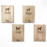 Personalised Dog Silhouette Peg Hook - Complete Pets