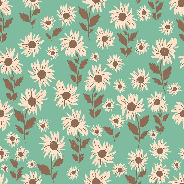 IB Infatuated Valentine - Daisy fields in Teal 02