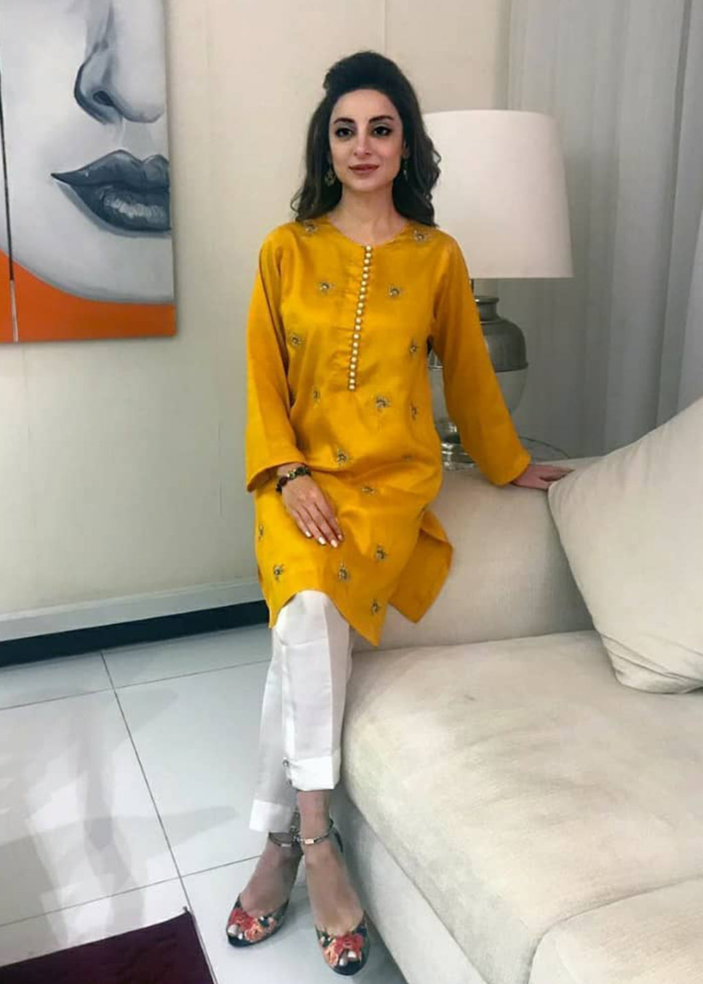 Sheen Gold Kurta