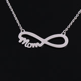 Fashion Infinity 8 character Pendant Necklaces for women jewelry stainless steel mama necklace choker collar mothers day gift - JMOOREKNOWSBEST