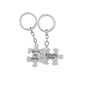 Grey Anatomy key rings You Are My Person keychains Lovers  Best Friend Statement car key holder mothers day Gift for mom dad sis - JMOOREKNOWSBEST