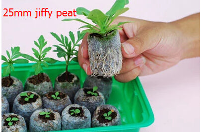 Free shipping,60pcs,25mm jiffy peat,nursery peat/compression peat.seedling,fertilizer,garden planting,vegetable seed pellete - JMOOREKNOWSBEST