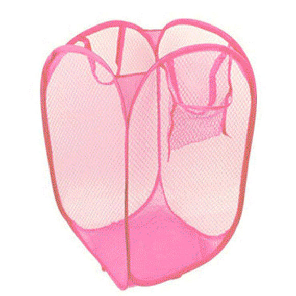 2018 New Foldable Pop Up Washing Clothes Laundry Basket Bag Hamper Mesh Storage - JMOOREKNOWSBEST