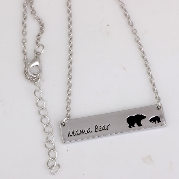 N225 Mama bear pendant Necklace Mother Day Gifts Alloy mother and son Bear fashion Necklace Gifts Jewelry - JMOOREKNOWSBEST