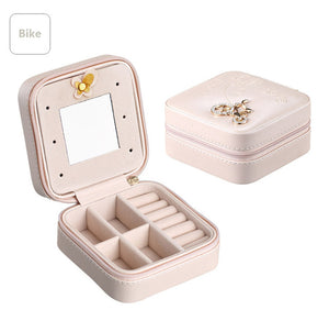 Mini Travel jewelry box cosmetic makeup organizer packaging Boxes earrings storage Casket Container Graduation gift for girls - JMOOREKNOWSBEST