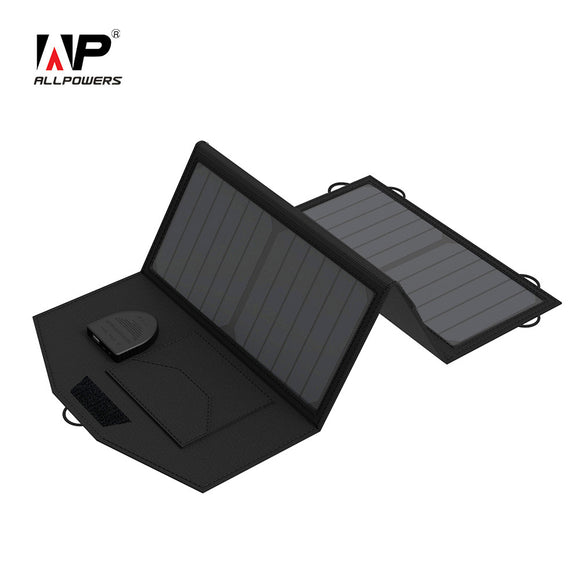 ALLPOWERS 5V 12V 18V Solar Panel Battery Charger Charging for iPhone Samsung iPad 12V Car Battery 18V Laptop etc. - JMOOREKNOWSBEST