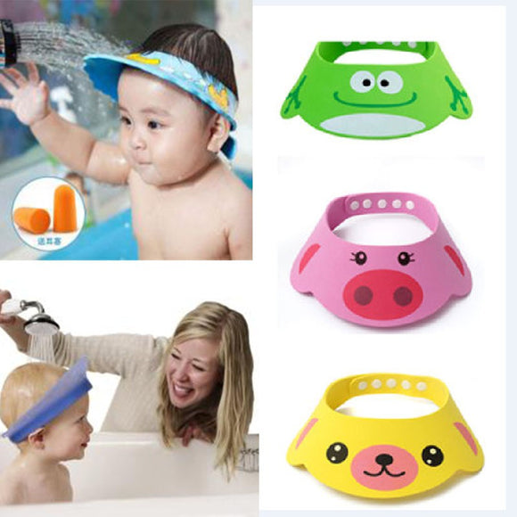 Toddler Kids Wash Hair Shield Direct Visor Caps Shampoo Bathing Shower Cap For Children Baby Care Sweet Lovely Baby Hats - JMOOREKNOWSBEST