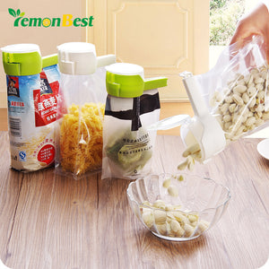 LemonBest 1pcs Seal Pour Food Storage Bag Clip Food Sealing Clip Effect Clamp Discharge Nozzle For Storage Food Kitchen Tools - JMOOREKNOWSBEST