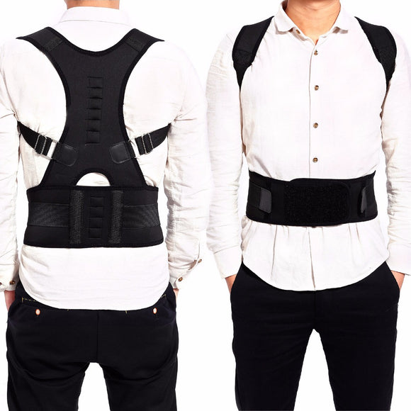 Male Female Adjustable Magnetic Posture Corrector Corset Back Men Brace Back Belt Lumbar Support Straight Christmas Gift S-XXL - JMOOREKNOWSBEST