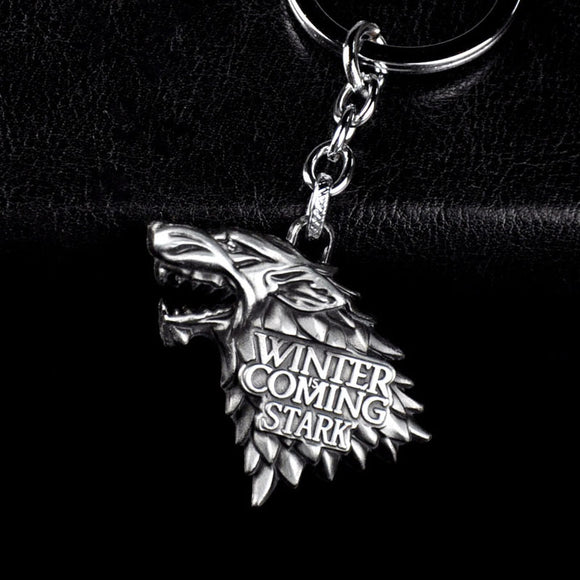 Fashion Anime Game of Thrones Keychain For Men Trinket Portachiavi Car Keyring Key Chain Ring Chaveiro Jewelry Gift Souvenirs - JMOOREKNOWSBEST