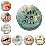 Round Love Mom Quote Fridge Magnet 2018 New 30MM Glass Dome Refrigerator Sticker Home Decoration Message Holder Mothers Day Gift - JMOOREKNOWSBEST