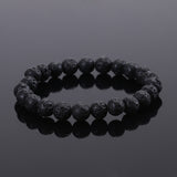 2015 Fashion Jewelry Men bracelet Black Lava Energy Stone Beads Buddha Bracelet for Women Christmas gift - JMOOREKNOWSBEST