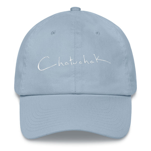 White Embroidery Chatuchak Baseball Cap - Chatuchak Market Shop