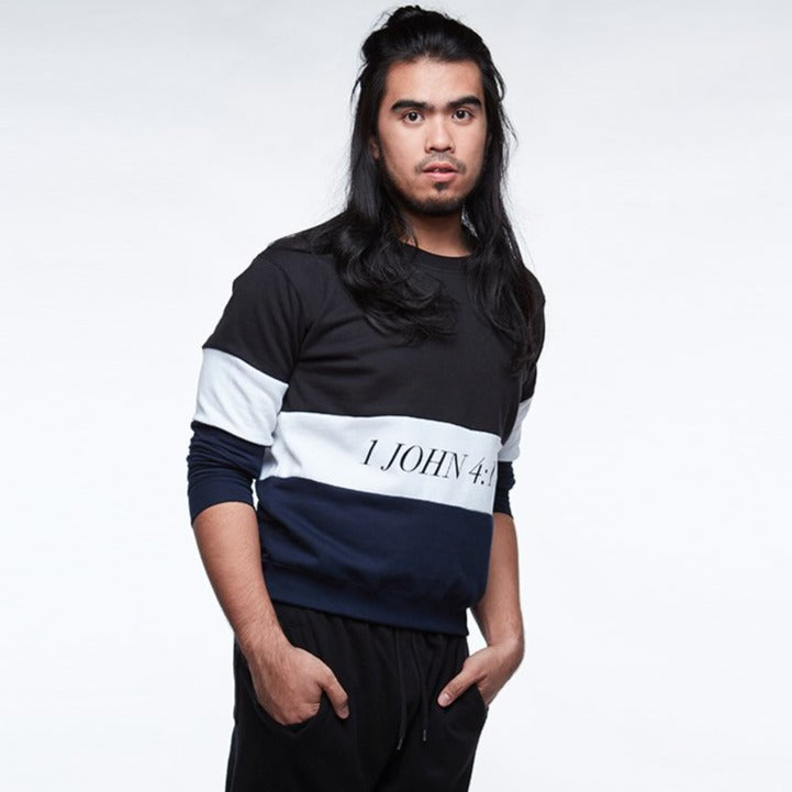 VERSES Colours - Navy Blue Pullover