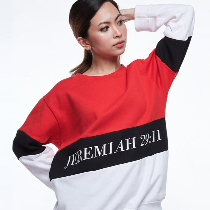 VERSES Colours - Tricolour Pullover (Red)