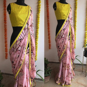 Japan Satin Silk Printed Saree