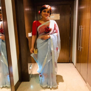 ButterflyNet Chain Work Saree