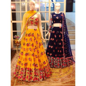 Heavy Net Embro Lehnga - Lehnga - ShopaholicsChoice