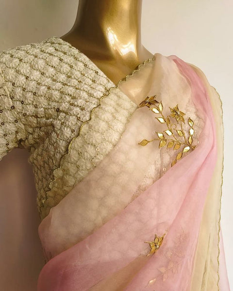 Pure Organza Gota Work Saree