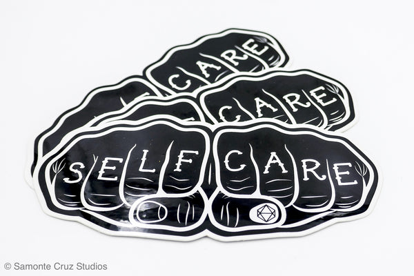 Self-care Knuckle Tattoo Sticker - Samonte Cruz Studios