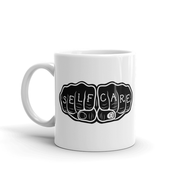 Self-Care Knuckle Tattoo | Ceramic Mug - Samonte Cruz Studios