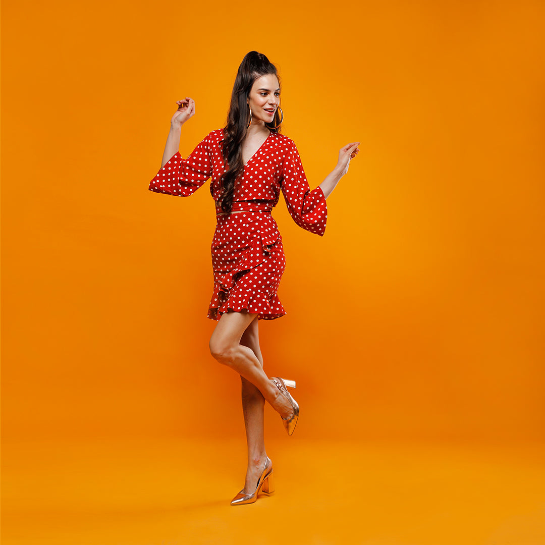 ORANGE POLKA DOTS JOANNE CO-ORD SET