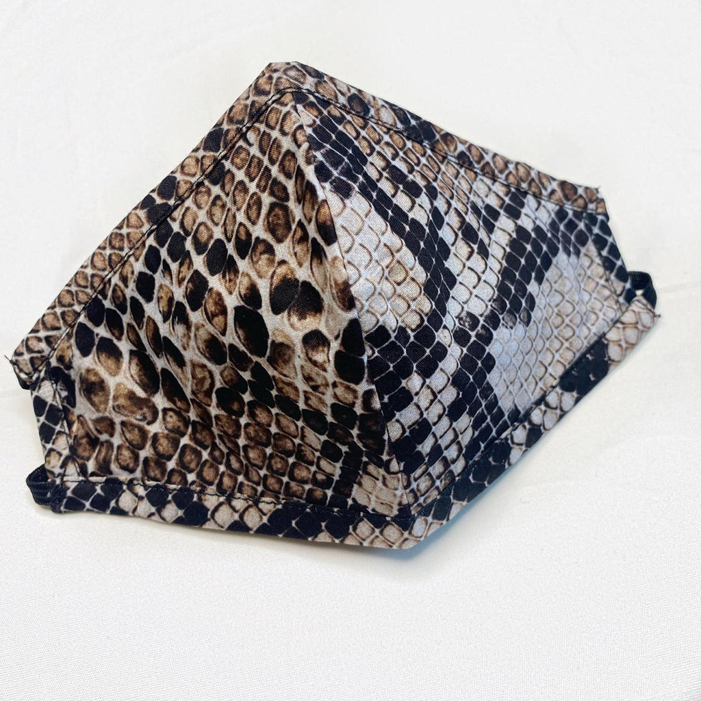 Printed Mask - Snake Print with chain