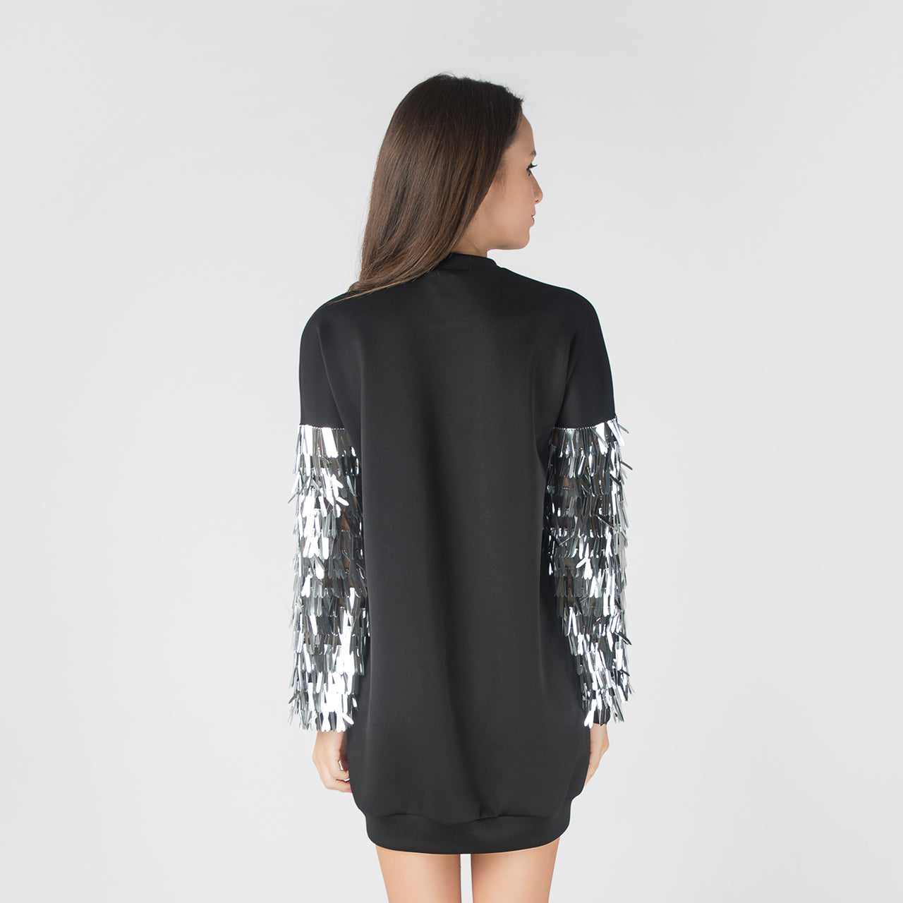BLACK JETSONS SWEATER DRESS